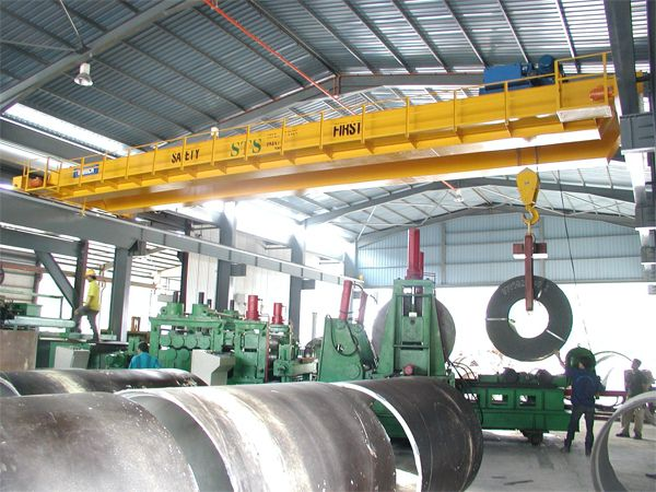 25 Tonne x 17m Span Double Girder Electric Overhead Traveling Crane at Pahang