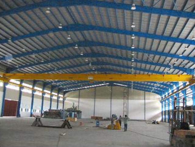 5 Tonne x 44m Span Single Girder Electric Overhead Traveling Crane at Selangor-1