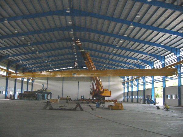 5 Tonne x 44m Span Single Girder Electric Overhead Traveling Crane at Selangor