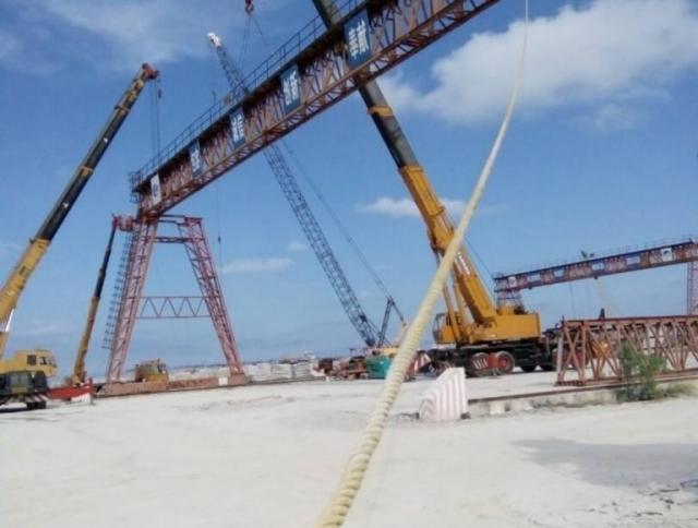 Installation of Gantry Crane