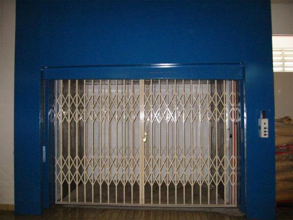 Vertical Bi-Parting Auto Door for a Goods Hoist System