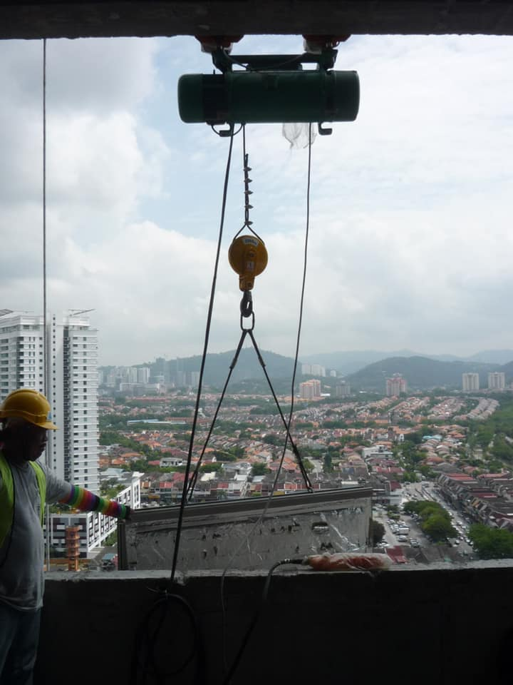 High lifting curve lifting monorail system-3