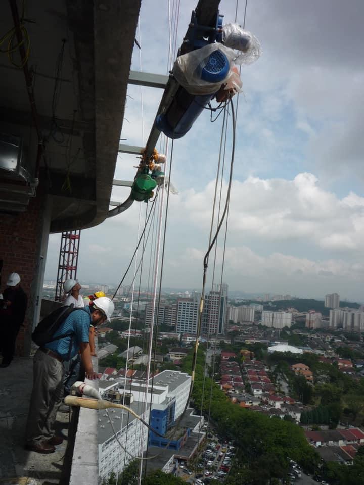High lifting curve monorail customized crane